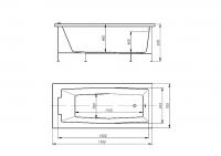 Гидромассажная ванна 170х75 DIONA